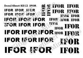 IFOR Markings - White